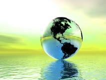 zmiana tematu globus Zdjęcia Stock
