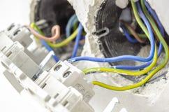 Zmiana z elektrycznymi drutami Obraz Stock