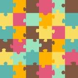 zmiany kolorów łatwa eps8 kawałków łamigłówka wektor Zdjęcia Stock