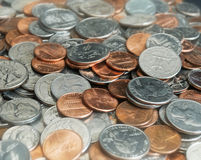 zmiany monet stos Obrazy Royalty Free