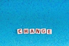 Zmiany słowo na kamieniu zdjęcie royalty free