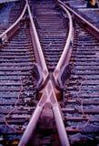 zmiany torów pociąg Fotografia Stock