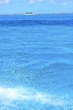 zmielona fala w błękit piany morza kropli słonecznym dniu Obrazy Royalty Free