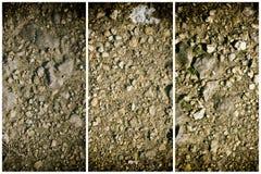 Zmielona tekstura, piasek powierzchnia, kamienny tło, dobry dla projektów elementów Fotografia Stock