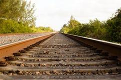Zmielona widok linia kolejowa fotografia stock