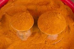 Zmieloni Chili pieprze Zdjęcie Stock