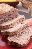 Zmielony wieprzowiny i indyka meatloaf zdjęcie stock
