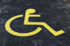 Zmielony znak dla niepełnosprawnej osoby fotografia stock