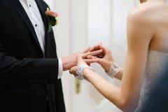 Zmieniać pierścionki Obraz Royalty Free