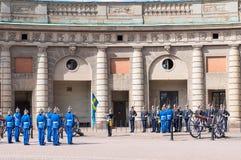 Zmieniać strażnika. Sztokholm. Szwecja Obrazy Stock