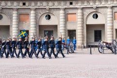 Zmieniać strażnika zaszczyt. Sztokholm. Szwecja Fotografia Stock