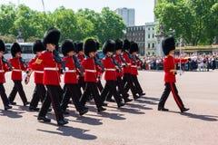 Zmieniać strażową ceremonię Zdjęcia Royalty Free