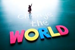 Zmienia światowego pojęcie Fotografia Stock