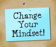 Zmienia Twój Mindset Reprezentuje myśl O Nim I Odbija royalty ilustracja