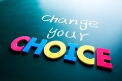 Zmienia twój wyborowego pojęcie Zdjęcia Royalty Free