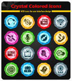 zmiennik barwi komunikacyjna ikona zawierać set Obraz Royalty Free