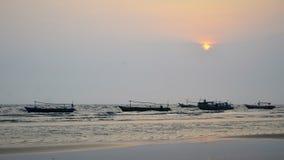 Zmierzch łódź 04 Zdjęcie Royalty Free
