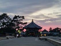 Zmierzch łuna Todaiji świątynia, Japonia Zdjęcia Royalty Free