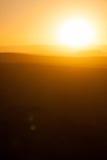 Zmierzch above pustynne diuny w Afryka Zdjęcie Royalty Free