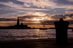 Zmierzch Basen San Marco w Wenecja, Włochy Obrazy Royalty Free