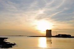 Zmierzch brzeg w Salento fotografia royalty free