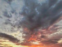 Zmierzch chmury Zdjęcia Stock