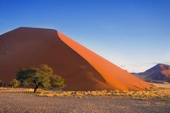 Zmierzch diuny Namib pustynia, Południowa Afryka Zdjęcie Stock