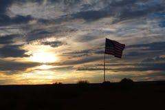 Zmierzch flaga obrazy royalty free