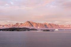 Zmierzch Greenland zdjęcie royalty free