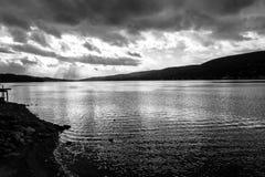 Zmierzch Greenwood jeziorem (NY) obraz royalty free