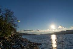 Zmierzch Greenwood jeziorem (NY) zdjęcie royalty free