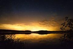 Zmierzch gwiazdy krajobraz zdjęcie royalty free