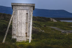 Zmierzch, Historyczny połowu miejsce, miotła punkt, Gros Morne obywatel Obrazy Royalty Free