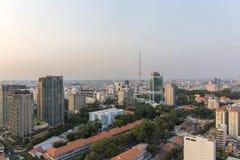 Zmierzch, Ho Chi Minh miasto Obraz Royalty Free