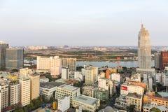Zmierzch, Ho Chi Minh miasto Obrazy Royalty Free