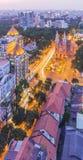 Zmierzch, Ho Chi Minh miasto Obraz Stock