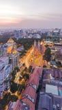 Zmierzch, Ho Chi Minh miasto Obrazy Stock