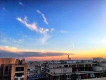 Zmierzch i chmury nad Washington zabytkiem przy świtem Zdjęcie Stock