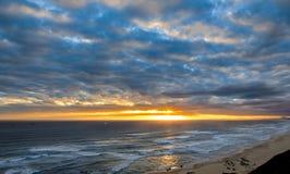 Zmierzch i chmury w Południowa Afryka Obraz Stock