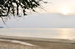 Zmierzch i morze widok Obraz Royalty Free