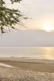Zmierzch i morze widok Zdjęcie Royalty Free