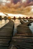 Zmierzch jezioro Bokod Fotografia Stock