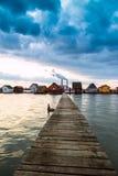 Zmierzch jezioro Bokod Obraz Royalty Free