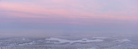 zmierzch krajobrazowa zima obrazy stock