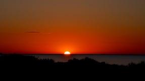 Zmierzch Lanscape przy Coogee plażą: Zachodnia Australia Zdjęcie Stock