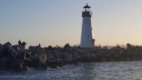 Zmierzch latarnia morska Zdjęcie Royalty Free