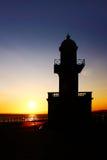 Zmierzch latarnia morska Zdjęcia Royalty Free
