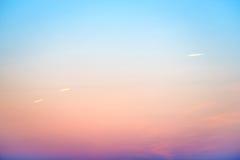 Zmierzch lub wschodu słońca kolorowy niebo Obrazy Royalty Free