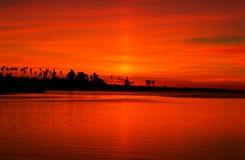 Zmierzch, misji zatoka, San Diego, Kalifornia zdjęcia royalty free