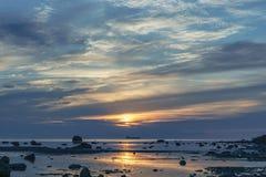 Zmierzch morze bałtyckie Obrazy Royalty Free